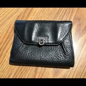 Authentic Salvatore Ferragamo Black Leather Wallet